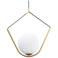 Dainolite ORN-241P-AGB Orion 1 Light 24 inch Aged Brass Pendant Ceiling Light