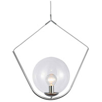 Dainolite ORN-241P-PC Orion 1 Light 24 inch Polished Chrome Pendant Ceiling Light