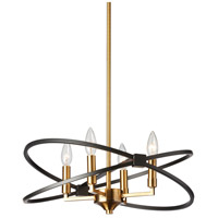 Paloma 4 Light 18 inch Vintage Bronze and Matte Black Chandelier Ceiling Light