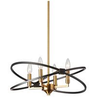Dainolite PAL-184C-VB-MB Paloma LED 18 inch Vintage Bronze/Black Chandelier Ceiling Light in Vintage Bronze and Matte Black