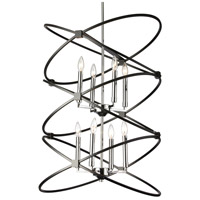 Dainolite PAL-228C-PC-MB Paloma 8 Light 22 inch Polished Chrome and Matte Black Chandelier Ceiling Light