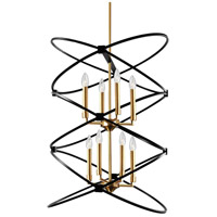 Dainolite PAL-228C-VB-MB Paloma 8 Light 22 inch Vintage Bronze and Matte Black Chandelier Ceiling Light