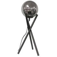 Dainolite PAM-241T-MB Pamela 24 inch 60 watt Matte Black/Smoked Table Lamp Portable Light, Decorative