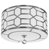 Pembroke 3 Light 15 inch Polished Chrome Flush Mount Ceiling Light