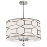 Pembroke 6 Light 22 inch Polished Chrome Chandelier Ceiling Light