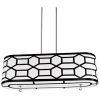 Pembroke 4 Light 34 inch Polished Chrome Horizontal Pendant Ceiling Light