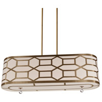 Pembroke 4 Light 34 inch Vintage Bronze Horizontal Pendant Ceiling Light