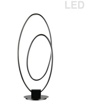 Dainolite PHX-2130LEDT-MB Phoenix 21 inch 30 watt Matte Black Table Lamp Portable Light Decorative