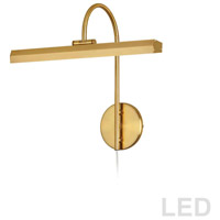 Dainolite PIC120-16LED-AGB Display Exhibit 9.6 watt 17 inch Aged Brass Picture Light Wall Light