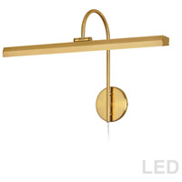 Dainolite PIC120-23LED-AGB Display Exhibit 10.8 watt 24 inch Aged Brass Picture Light Wall Light