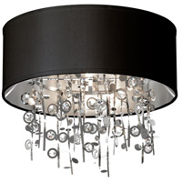 Dainolite Picabo 4 Light Semi Flush in Polished Chrome PIC164FH-PC-BK