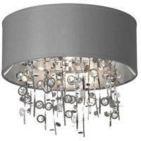 Dainolite Picabo 4 Light Semi Flush in Polished Chrome PIC164FH-PC-SV