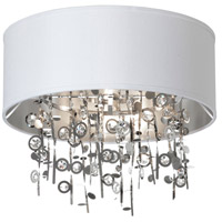Dainolite Picabo 4 Light Semi Flush in Polished Chrome PIC164FH-PC-WH