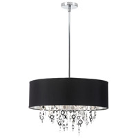Dainolite Picabo 8 Light Chandelier in Polished Chrome PIC198C-PC-BK