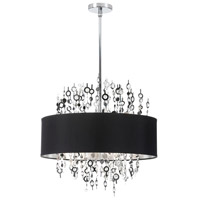 Dainolite Picabo 8 Light Chandelier in Polished Chrome PIC218C-PC-BK