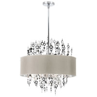 Dainolite Picabo 8 Light Chandelier in Polished Chrome PIC218C-PC-PEB