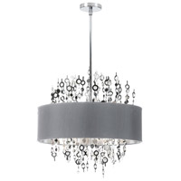 Dainolite Picabo 8 Light Chandelier in Polished Chrome PIC218C-PC-SV