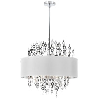 Dainolite Picabo 8 Light Chandelier in Polished Chrome PIC218C-PC-WH