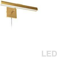 Dainolite PIC222-16LED-AGB Leonardo 20 watt 16 inch Aged Brass Picture Light Wall Light