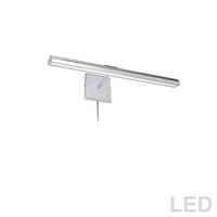 Dainolite PIC222-24LED-PC Leonardo 30 watt 24 inch Polished Chrome Picture Light Wall Light