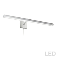 Dainolite PIC222-32LED-SC Leonardo 40 watt 32 inch Satin Chrome Picture Light Wall Light