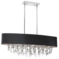 Dainolite Picabo 7 Light Chandelier in Polished Chrome PIC326HC-PC-BK