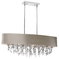 Dainolite Picabo 7 Light Chandelier in Polished Chrome PIC326HC-PC-PEB