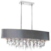 Dainolite Picabo 7 Light Chandelier in Polished Chrome PIC326HC-PC-SV