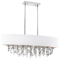 Dainolite Picabo 7 Light Chandelier in Polished Chrome PIC326HC-PC-WH