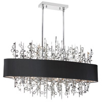 Dainolite Picabo 7 Light Chandelier in Polished Chrome PIC347HC-PC-BK