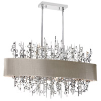 Dainolite Picabo 7 Light Chandelier in Polished Chrome PIC347HC-PC-PEB