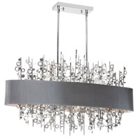 Dainolite Picabo 7 Light Chandelier in Polished Chrome PIC347HC-PC-SV
