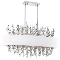 Dainolite Picabo 7 Light Chandelier in Polished Chrome PIC347HC-PC-WH