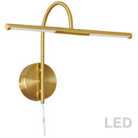 Dainolite PICLED-152-AGB Display Exhibit 6 watt 18 inch Aged Brass Picture Light Wall Light