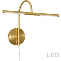 Dainolite PICLED-152-AGB Display Exhibit 6 watt 18 inch Aged Brass Picture Light Wall Light