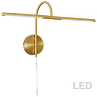 Dainolite PICLED-242-AGB Display Exhibit 10 watt 26 inch Aged Brass Picture Light Wall Light