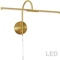 Dainolite PICLED-242-AGB Display Exhibit 10 watt 26 inch Aged Brass Picture Light Wall Light