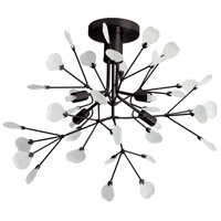Pomona 4 Light 19 inch Dark Brandze Flush Mount Ceiling Light