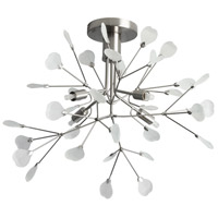 Pomona 4 Light 19 inch Satin Chrome Flush Mount Ceiling Light