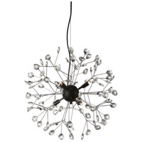 Primrose 6 Light 21 inch Clear and Black Pendant Ceiling Light