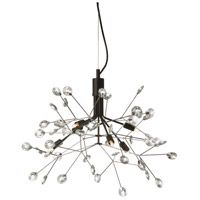Primrose 6 Light 23 inch Clear and Black Pendant Ceiling Light