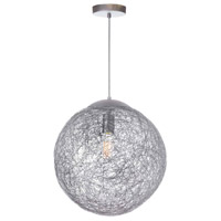Dainolite PTN-151P-AL Payton 1 Light 16 inch Aluminum Pendant Ceiling Light