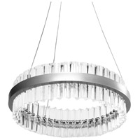 Dainolite REI-18LEDC-PC Reina LED 18 inch Polished Chrome/Clear Chandelier Ceiling Light