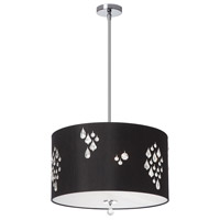 Dainolite Rhiannon 3 Light Pendant in Polished Chrome with Black Baroness Shade RHI-183P-PC-694