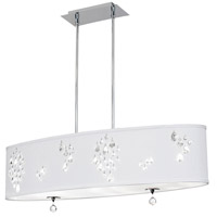Dainolite Rhiannon 8 Light Pendant in Polished Chrome with White Baroness Shade RHI-388C-PC-693
