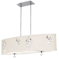 Dainolite Rhiannon 8 Light Pendant in Polished Chrome with Ivory Baroness Shade RHI-388C-PC-695