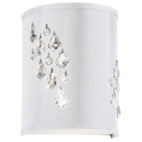 Dainolite Rhiannon 2 Light Sconce in Polished Chrome with White Baroness Shade RHI-8L-2W-693