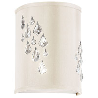 Dainolite Rhiannon 2 Light Sconce in Polished Chrome with Ivory Baroness Shade RHI-8L-2W-695