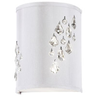 Dainolite Rhiannon 2 Light Sconce in Polished Chrome with White Baroness Shade RHI-8R-2W-693