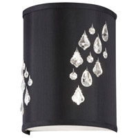 Dainolite Rhiannon 2 Light Sconce in Polished Chrome with Black Baroness Shade RHI-8R-2W-694